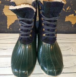 Sperry Top Sider Womens Green/Blue Duckboot